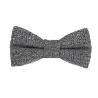 Bow Tie Mens Grey Bow Tie Bowtie Gray Bow Ties for Men