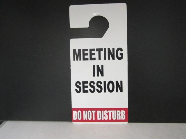 In Session Door Hanger Sign  Do Not Disturb Door Hanger Sign