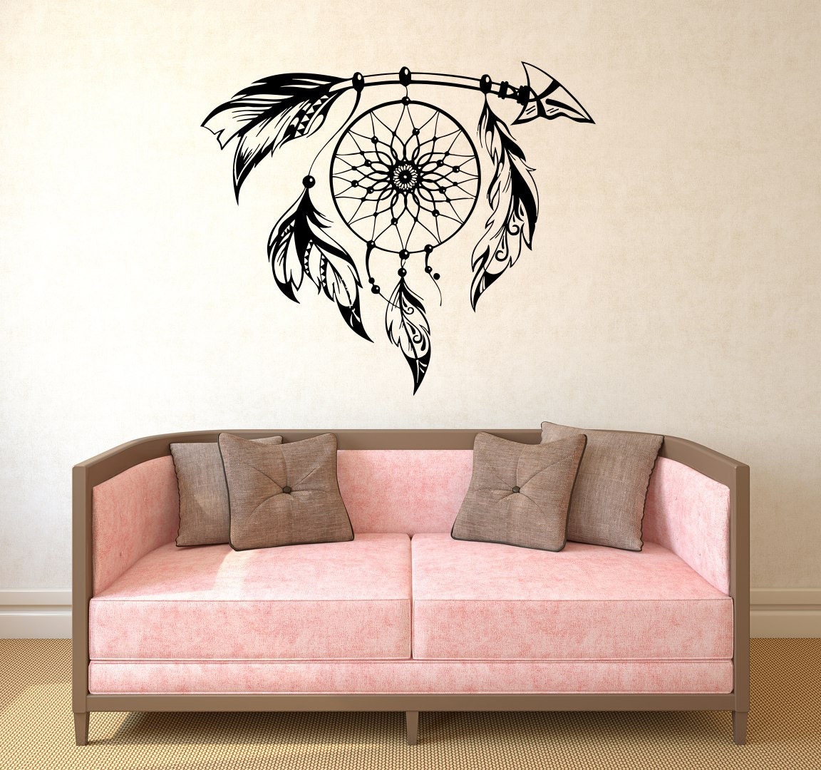 Cool Wall Decal Arrow Decal Dream Catcher Wall Decal Vinyl Sticker Decals Boho