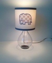 Elephant Lamp Shade with Lamp Base INCLUDED gray grey