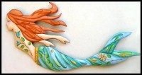 Mermaid Art Painted Metal Wall Hanging Mermaid Wall Decor