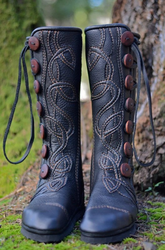 Women39s Moccasin Boots Knee High Boots Celtic