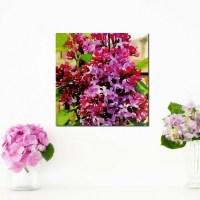 Lilac Flower Picture Purple Wall Art by HappenstanceByChance