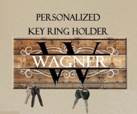 Personalized Key Holder Wedding Gift Anniversary Gift