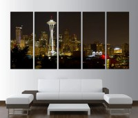 Seattle Washington Skyline Canvas print wall art by ...