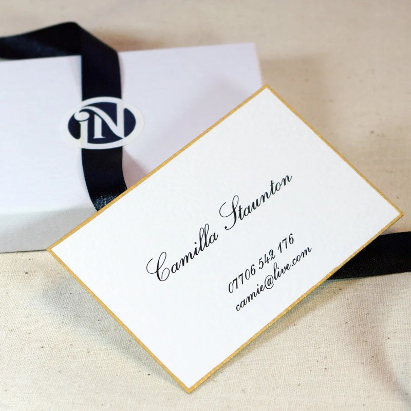 islenoire - Ultra Thick Business Cards 18K Gold Leaf Border