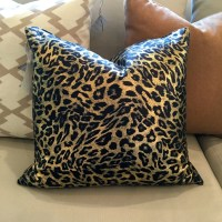 Leopard Pillow Cover Metallic Leopard Print Pillow Cover
