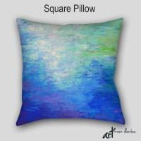 Throw pillow Jewel tone home decor Abstract art Designer
