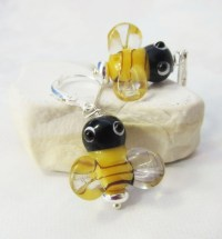 bee earrings honeybee jewelry honeybee sterling silver