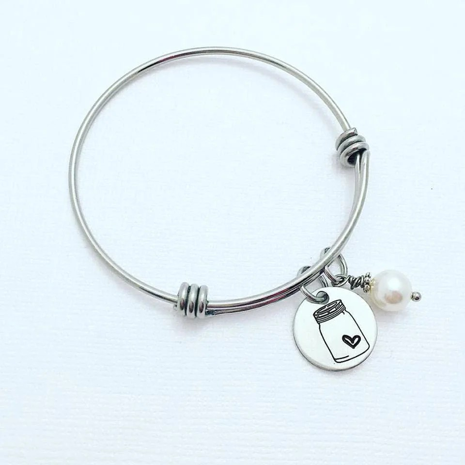Mason Jar Bracelet Expandable Adjustable Bracelet Country