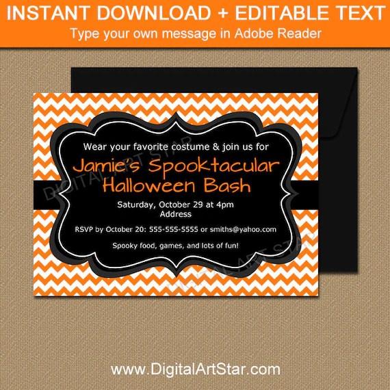 Adult Halloween Invitation Template Adult Halloween Party - halloween invitation template