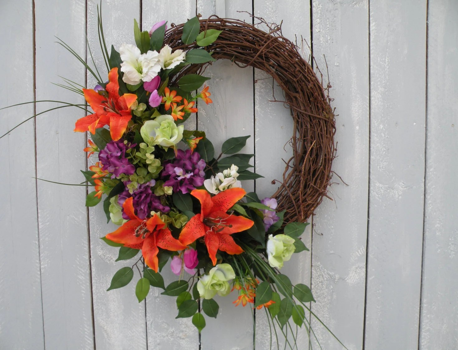 Tropical Wreath Front Door Wreath Designer by KathysWreathShop