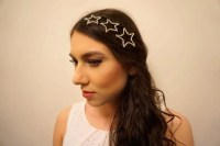 Bridal three piece star hair slides Bridal crystal star hair