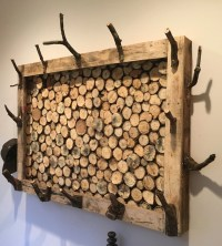 Items similar to Log Coat Rack on Etsy