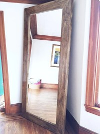 Items similar to X-Large Wooden Frame Floor Mirror on Etsy
