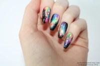 Galaxy coffin nails Galaxy nails Nail art Nails Stiletto