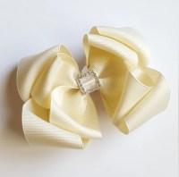 wedding hair bows ivory hair bow wedding flower girl ...