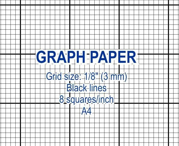 Graph paper printable 3 mm grid cross stitch design 8 - graphing paper printable template