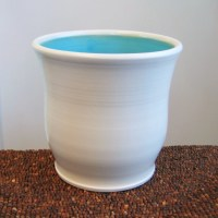 Ceramic Utensil Crock In Turquoise Blue Stoneware by ...