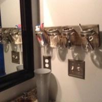 Items similar to bathroom caddy organizer wall caddy Mason ...