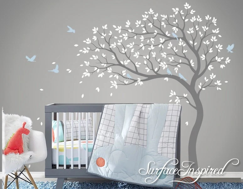 Baby Girl Nursery Wallpaper Uk Tree Wall Decal Nursery Large Tree Wall Decal By