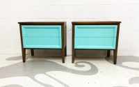 mid century modern end tables with two painted in by ...