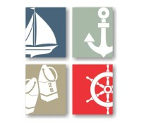 Nautical Wall Decor Nautical Nursery Sailing Art Coastal