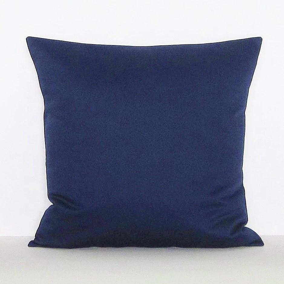 Navy Blue Pillow Cover Decorative Throw Accent Toss Pillow