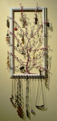Jewelry Trees Beautiful Unique & Functional Wall Art Pink