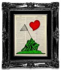 LOVE Wall Art HEART Wall Art Love Humor Print Cute Love