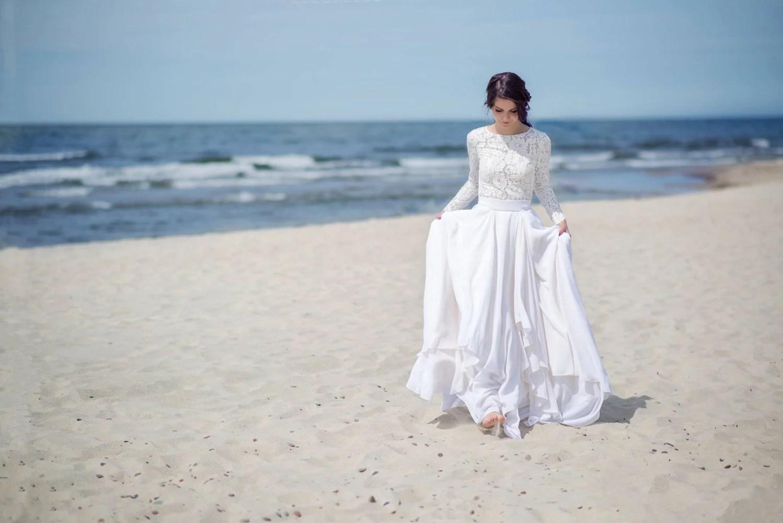 bridal separates etsy wedding dresses Eirene modest wedding dress simple wedding dress bridal separates two piece wedding dress winter wedding dress