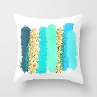 Turquoise Pillow Teal Pillow Blue and Yellow Pillows Aqua