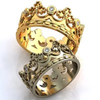Royal Crown Wedding Bands His and Her Crown Rings by ...