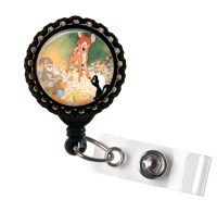 Bambie Disney-Glass Dome Retractable ID Badge Holder by ...