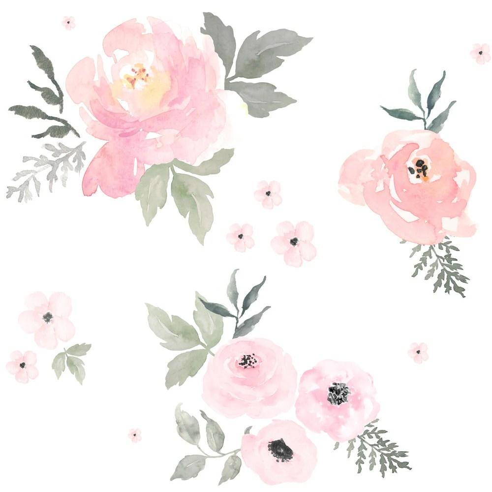Baby Girl Nursery Wallpaper Borders Blush Fabric Sweet Blush Roses By Shopcabin Baby Girl