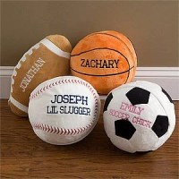 Personalized Plush Sports Pillow Baby Birth Announcement Child