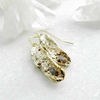 diamond earrings raw diamond gold earrings dangle earrings