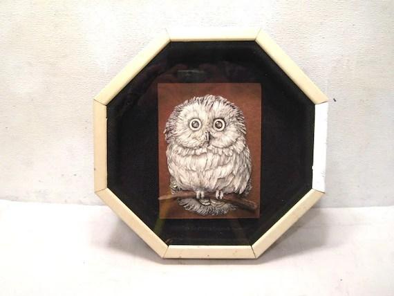 Owl Paper 3d Cut Print Art Shadow Box Display
