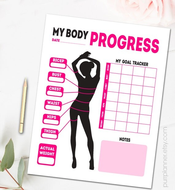 Weight loss goal chart printable