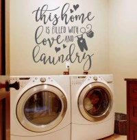 Laundry Room Decor Wall Stickers Wall by AmandasDesignDecals