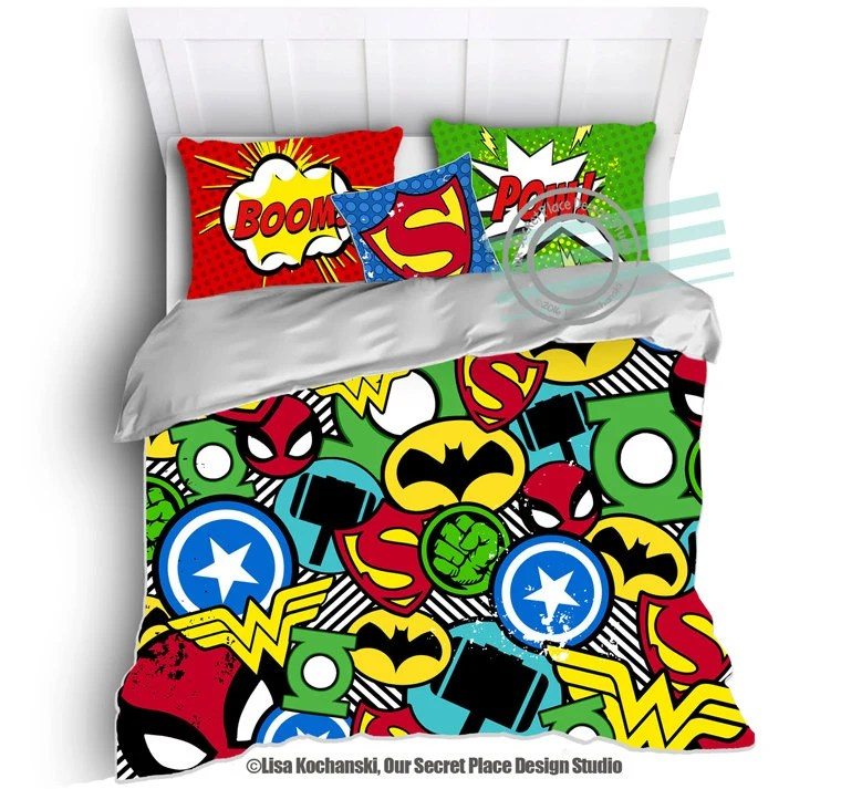 Can You Put A Comforter In A Duvet Cover Superhero Bedding For Boys Bedding Twin By Oursecretplace