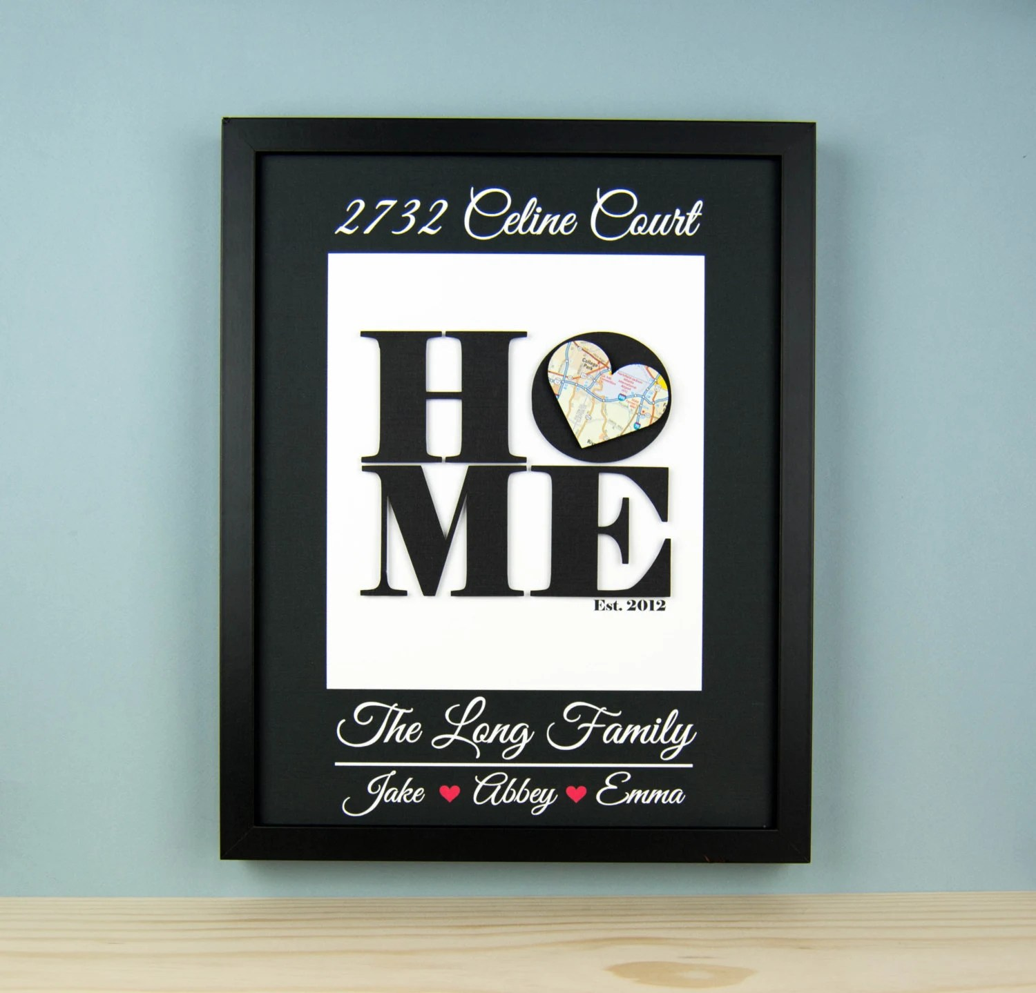 Personalized House Warming Gift Unique Housewarming Gift New Home Address By Bloomingdoordecor