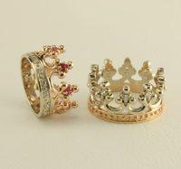 Sale 10% Off Crown wedding ring set Royal wedding rings