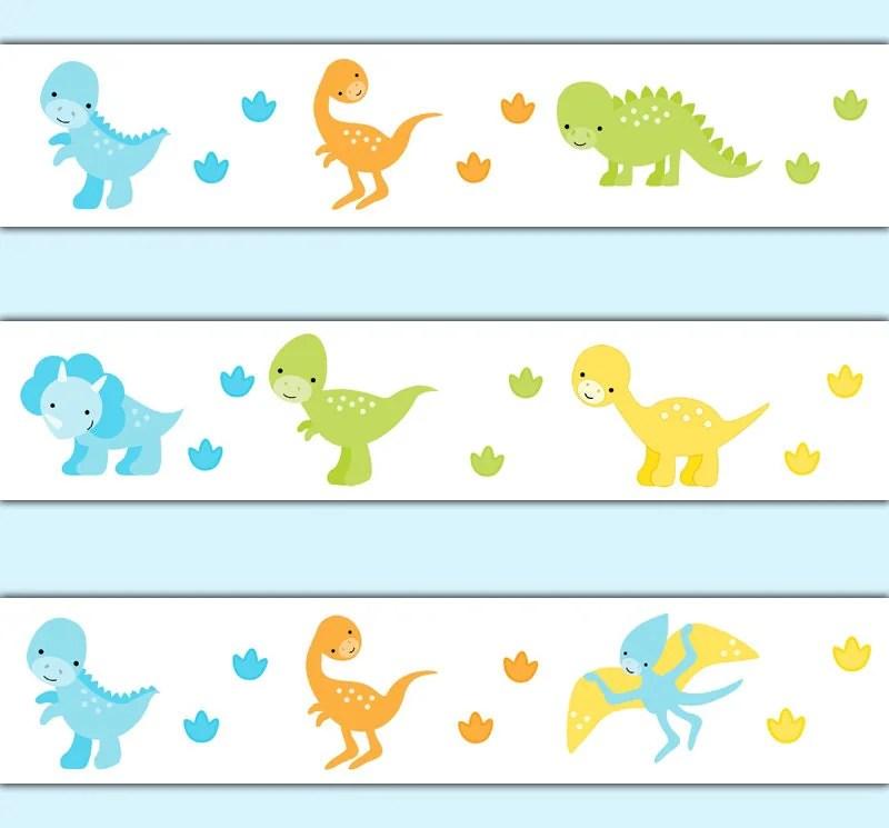 Baby Girl Nursery Wallpaper Borders Dinosaur Wallpaper Border Decal Wall Art Baby Dino Nursery