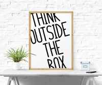 Motivational Print Think Outside The Box Printable Quote