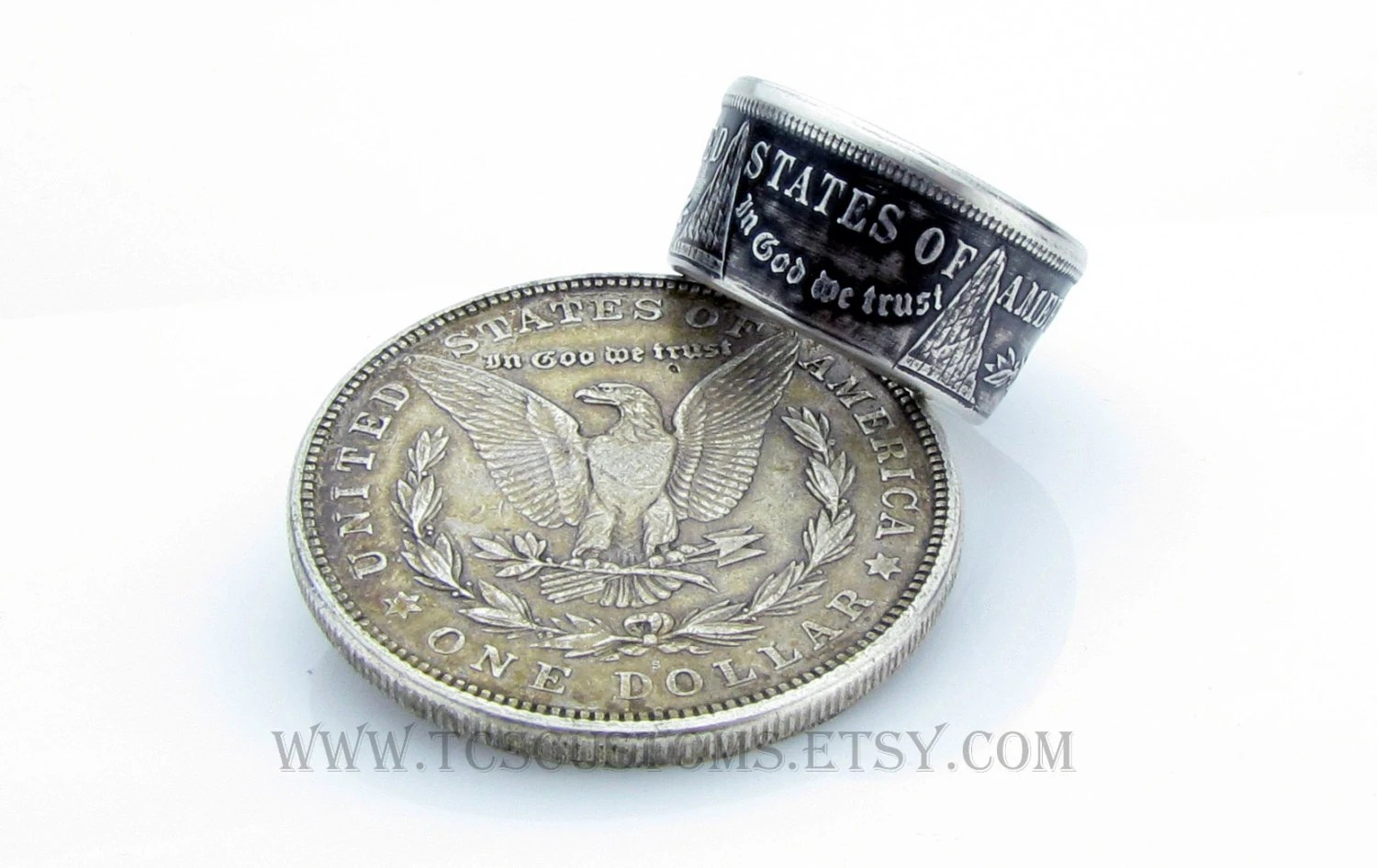 Unique Coin Morgan Dollar Coin Ring Silver Unique Engagement Ring