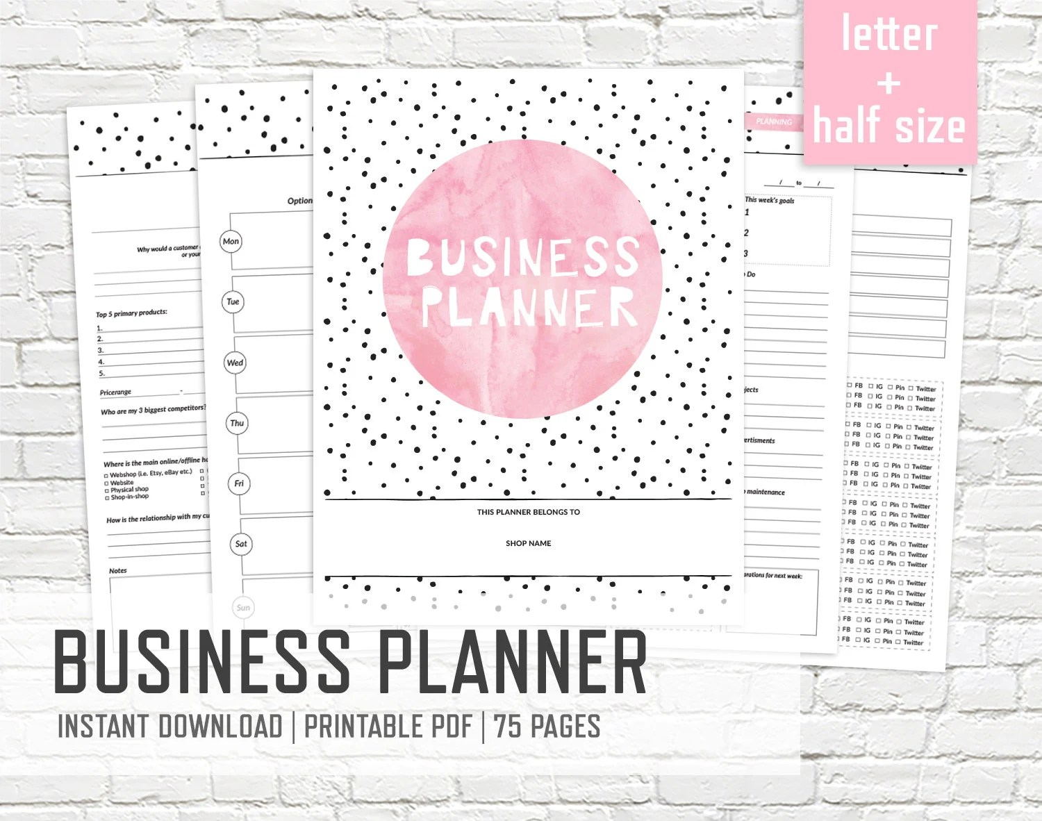small business planner organizer