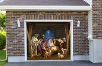 Outdoor Decoration Nativity Scene Garage Door Christmas
