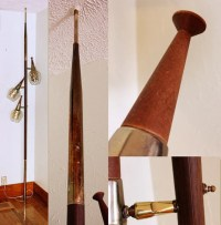 Vintage pole lamp tension lamp floor to ceiling by ...