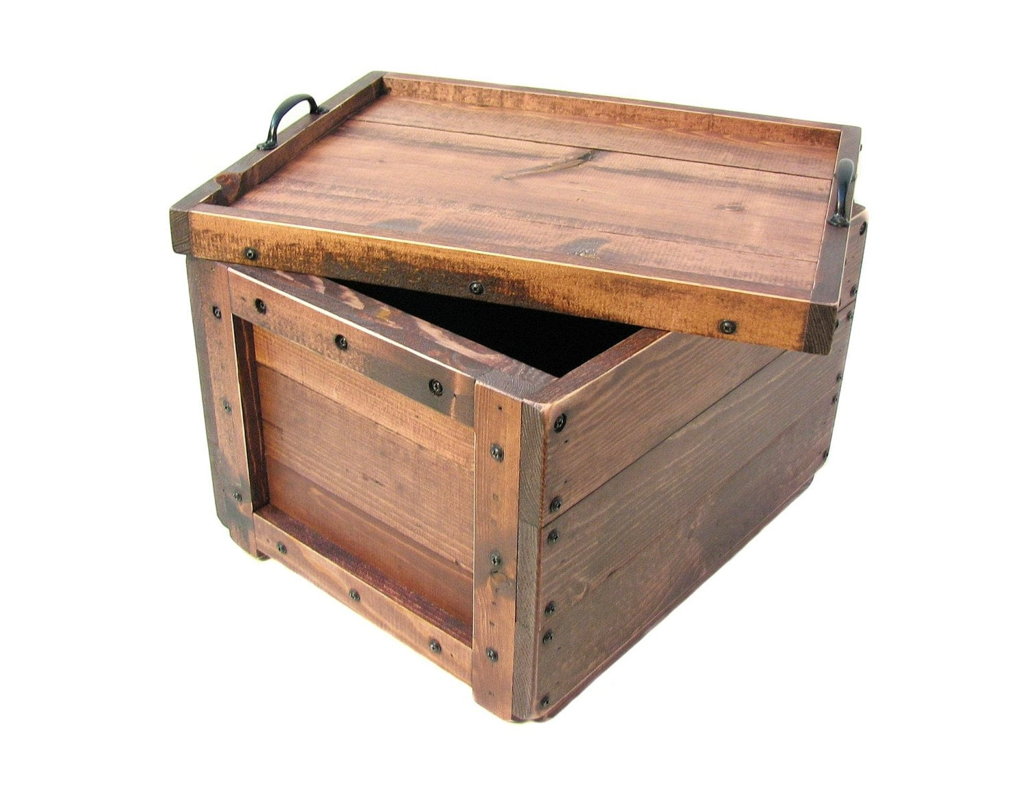 Lidded Wood Crate Wooden Box With Lid Keepsake Box Hope